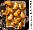 Puff pastry with mushrooms - stock