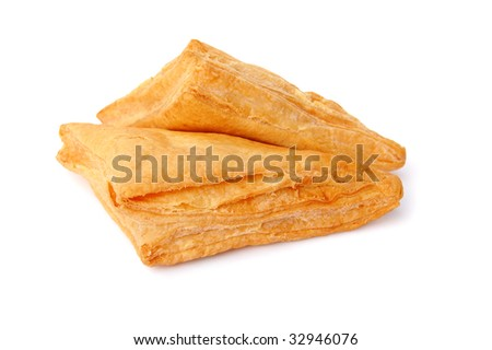 puff with confiture - stock photo