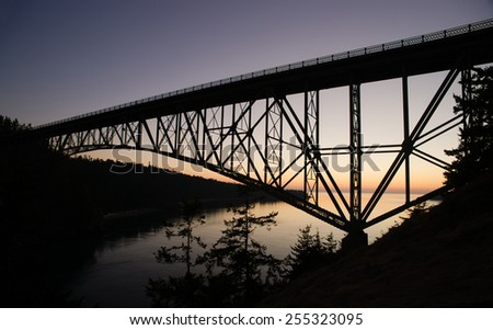 Puget Sound Deception Pass Fidalgo Whidbey Islands - stock photo