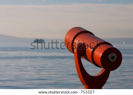 Puget Sound Ferry, Seattle, Washington - stock photo