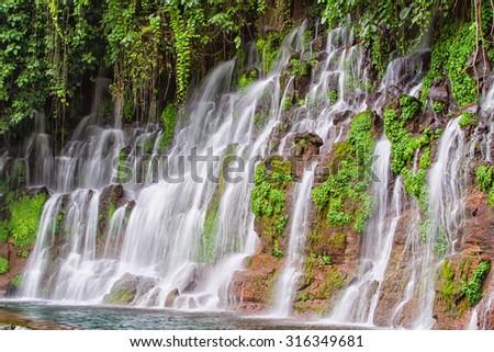 Pulhapanzak waterfall, Honduras, Central America - stock photo