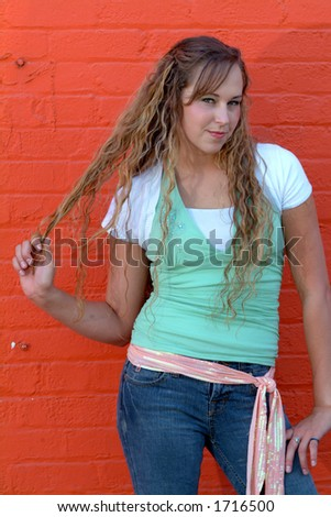 pulling hair - stock photo