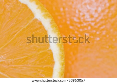 Pulp of an orange