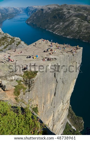 Pulpitrock in Norway - stock photo