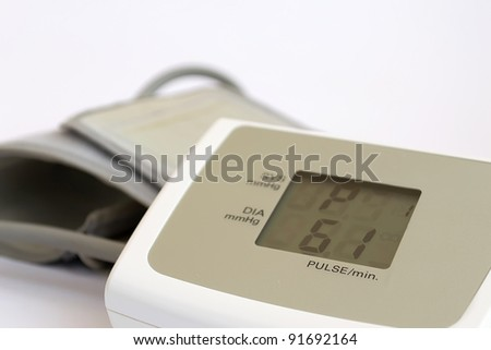 pulse and pressure tester on white background