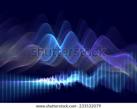 Pulse - Modern Abstract Background - stock photo