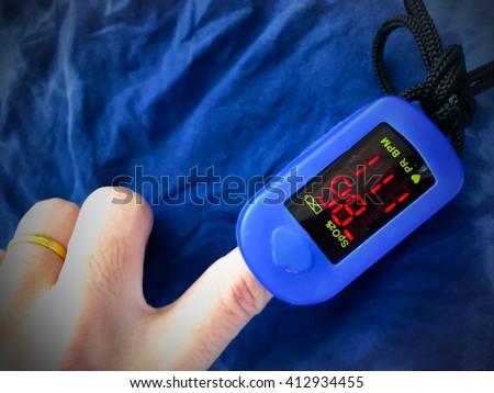 Pulse Oximeter  - stock photo