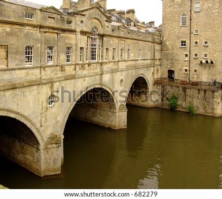 Pulteney Bridge, Bath, England - stock photo