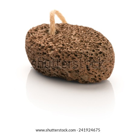 Pumice stone for spa isolated on a white background.  Studio photo - stock photo