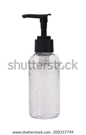 Pump bottle gel isolated white  - stock photo