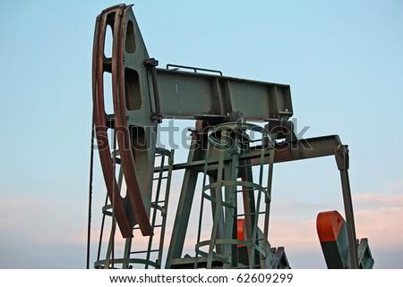 pump jack - stock photo