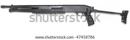 pump rifle - stock photo