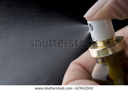 Pump sprayer used for medications, and homoeopathic remedies - stock photo