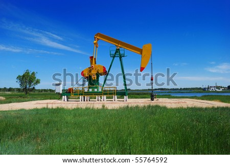 pumping unit - stock photo