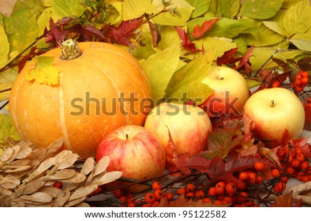 Pumpkin and apples