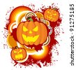 Pumpkin background for Halloween Season - stock photo