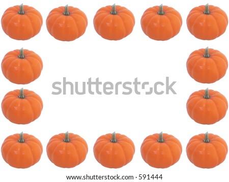 Pumpkin border - stock photo