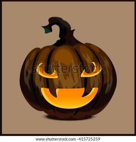 pumpkin for Halloween - stock photo