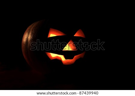 pumpkin for Halloween as a symbol of holiday