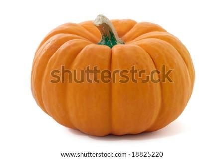 Pumpkin isolated. - stock photo