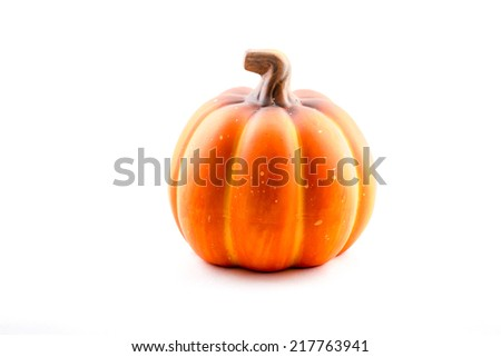 pumpkin isolated halloween - stock photo
