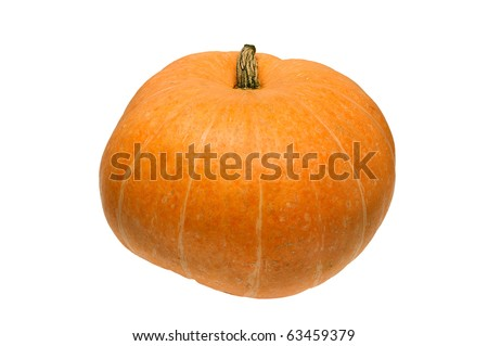 Pumpkin isolated on white - stock photo