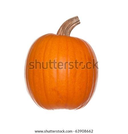 Pumpkin isolated on white - stock photo
