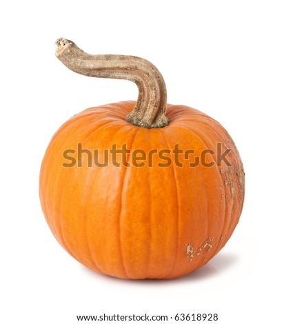 Pumpkin isolated over white background.