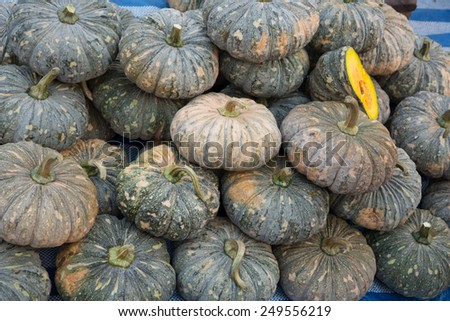 Pumpkin many were piled together. So people Choose to cook