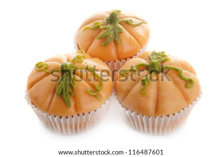 Pumpkin muffins - stock photo