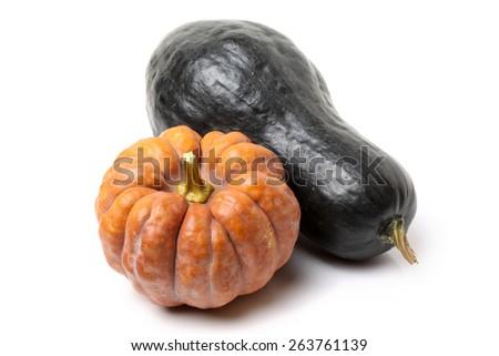 pumpkin on the white background - stock photo