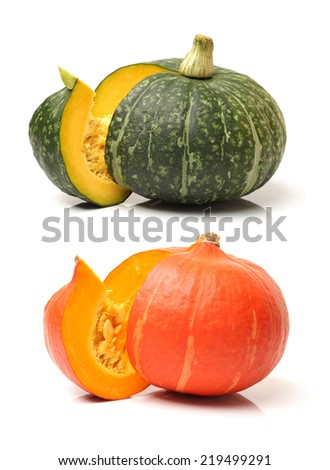 pumpkin on white background - stock photo