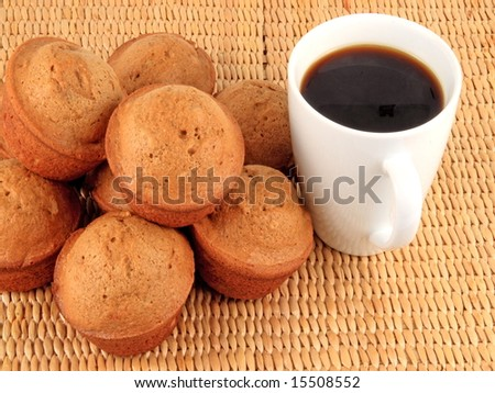 Pumpkin spice muffins with coffee