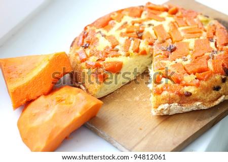pumpkin sweet pie - stock photo