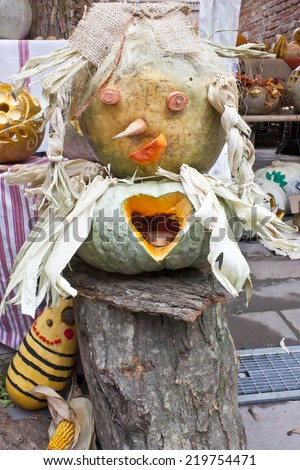 Pumpkin witch - stock photo