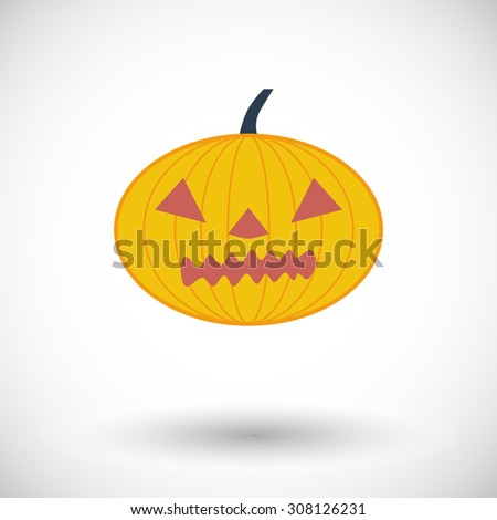 Pumpkins for Halloween. Single flat color icon.  illustration.