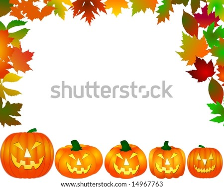 pumpkins on white background