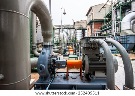 pumps in factory thailand - stock photo