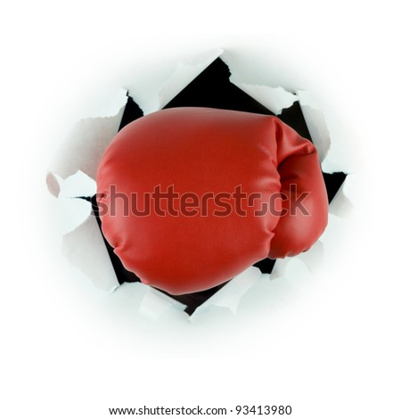 Punch through - stock photo