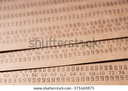 Punched cards abstract macro background