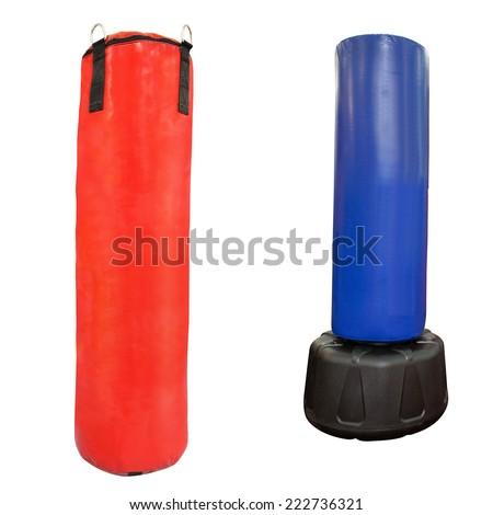 Punching bag under the light background - stock photo