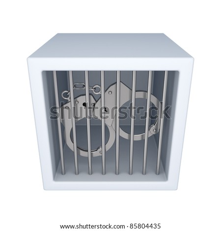 Punishment concept.Isolated on white background. 3d rendered. - stock photo