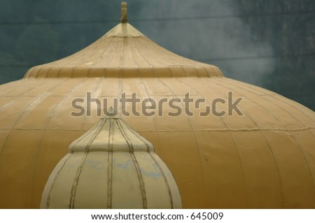Punjabi Temple with smoky background - stock photo