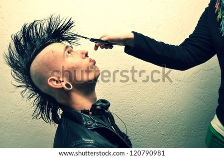 punk - stock photo
