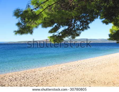 Punta rata beach - stock photo