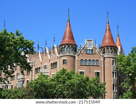 Punxes House in Barcelona, Spain. - stock photo