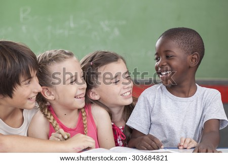 pupils laughing togethers