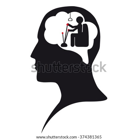Puppet. Captain in mind - stock photo