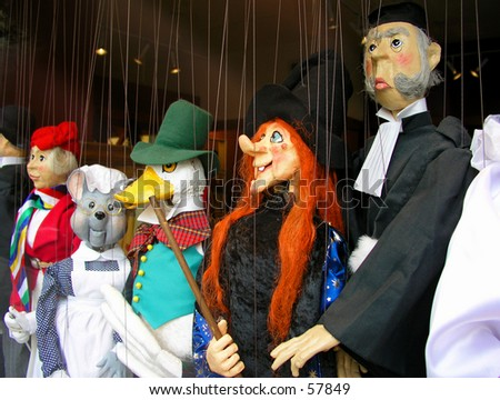 Puppets - stock photo