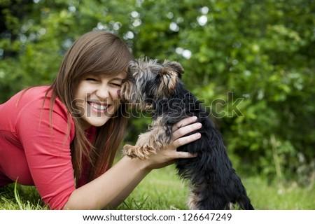 Puppy love - stock photo